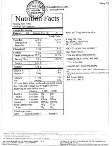 Kết quả phân tích thành phần dinh dưỡng gạo ST đỏ