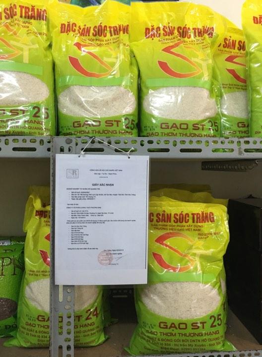 Cửa hàng CTY CPLT Phương Nam bán gạo ST25 chính gốc